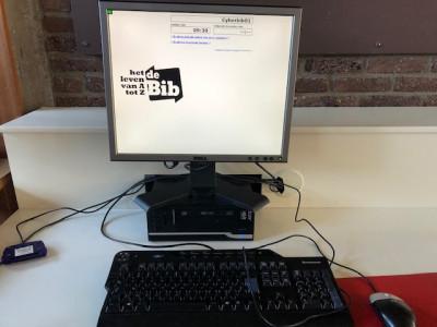 Werken op de pc's in Bibliotheek Turnhout